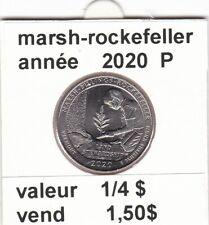 pièces de 1/4 $  marsh-rockefellerde 2020 P