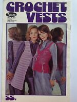 vintage 70's PATONS crochet book 973 totem double knit baroness ladies vests hat