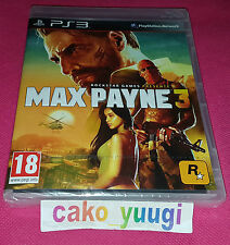 MAX PAYNE 3 SONY PS3 NEUF SOUS BLISTER VERSION 100% FRANCAISE