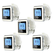 5x433Mhz Watch Pager Receiver Waiter Call Pager Restaurant Server Calling System
