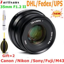7artisans 35mm F1.2 II MF Large Aperture Mirrorless Lens for Canon Nikon Sony FX