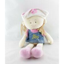 Doudou poupée rose bleu jean LGRI - Poupée - Lutin Classique