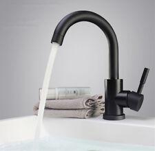 Retro Schwarz Einhebelmischer Wasserhahn Bad Waschbecken Armatur Mischbatterie J