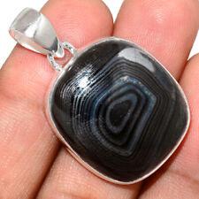 Black Malachite - Mexico 925 Sterling Silver Pendant Jewelry AP217660