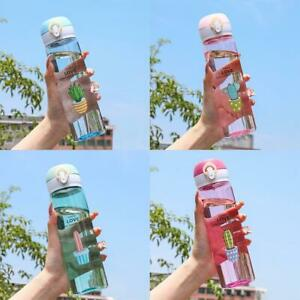 780Ml Sports Water Bottle Outdoor Water Bottle With Straw Plastic Portable Water