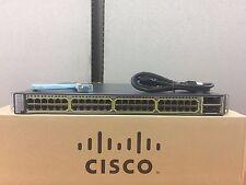 TESTED Cisco WS-C3750E-48PD-EF 48Port Gigabit PoE Ethernet Switch FastShipping