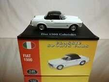 ATLAS 104 CLASSIC SPORTS CARS FIAT 1500 CABRIOLET WHITE 1:43 - EXCELLENT IN BOX