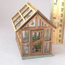 Doll house miniature Quarter scale  greenhouse decorated with paper marijuana