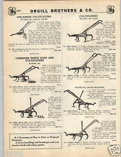 1935 PAPER AD Planet Jr Junior One Horse Farm Cultivator Hoe Brinly Rufus
