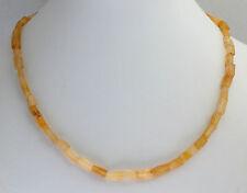 Gelb Aventurin Kette Edelsteinenkette,45cm Lang,Quader,Halskette,Schmuck,Collier