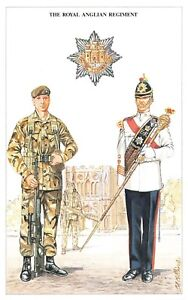 Postcard The British Army Series No.31 Royal Anglian Regiment by Geoff White