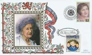 St KITTS / SWAZILAND 2007 QUEEN MOTHER 5th ANN OF HER DEATH BENHAM LE COVER