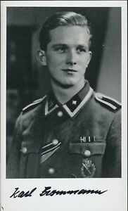 Karl Brommann signed photo. 103 SS Heavy Panzer Btl.