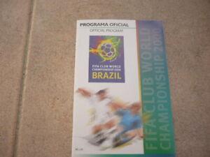 Soccer Program-FIFA WORLD CLUB CHAMPIONSHIP 2000-BRAZIL-MANCHESTER UNITED-