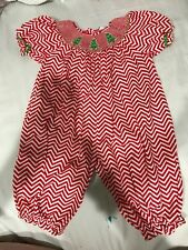 Mom & Me Smocked Christmas Bubble Suit Christmas Trees 24 Months NWOT