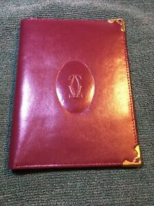 Cartier Paris, Burgundy Leather Wallet And Credit Card Holder