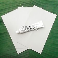 3x Grayish PVC Patch + Glue for Inflatable Boat Kayak Canoe Raft Bouncer Airbed