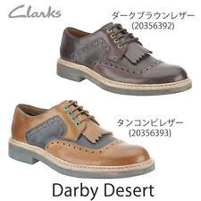 NUOVO Clark Uomo Darby DESERTO marrone scuro SCARPA FORMALE UK Uk9,5 G