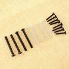 Humbucker Pickup Ring+Mounting Screws Set Kits Height Screw w/Spring Black