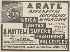 Z2000 Apparecchi fotografici - A. Mattei - Milano - Pubblicità d'epoca - 1934 ad