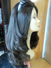 "Malky Wig Sheitel 100% European Multidirectional Wig Dark Brown 22"" large"