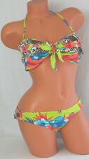 Raisins Bandeau Ruffled Bikini - Lime Green Tropical - L - NWT -  MSRP $76