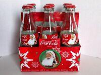 Coca Cola Christmas Target 2007 Bottle 8 oz 6 Pack Foil Carton Empty w Caps