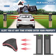 Driveway Alarm Sensor Alert System Wireless Weatherproof Solar Outdoor  ✯