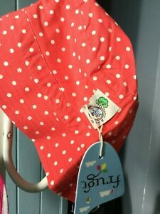 Girl's Organic Cotton Dolcie Washed Red Bucket Sun Hat - BNWT - RRP £16
