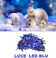 LUCI LED NATALE NATALIZIE ADDOBBI DECORAZIONE ALBERO DI NATALE 100 LED BLU FESTE