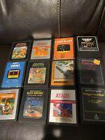 VTG Atari 2600 Game Lot 12 Volleyball Laser Blast Canyon Bomber Jungle Hunt Oink