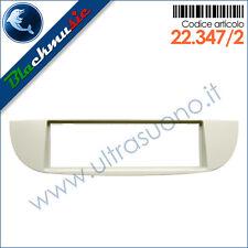 Mascherina supporto autoradio ISO Fiat 500 (dal 2007) colore avorio
