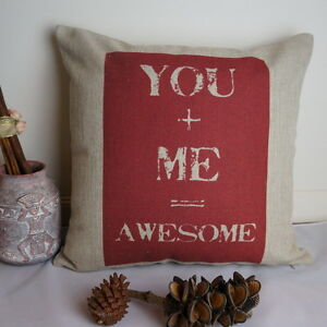 Cotton Linen Cushion Cover Home Decor You and Me