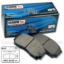 Wilwood Dynalite Fast Road Hawk   HPS Brake Pads/Compbrake Pro Race 5/6 CMB0082
