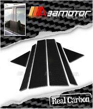 REAL DRY CARBON FIBER DOOR PILLAR PANEL COVERS for AUDI A6 SEDAN 4D 1997-2004