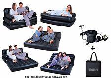 5IN1 gonfiabile multifunzionale doppio Air Sofa Sedia Divano reclinabile a letto materasso