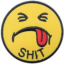 Smile White Smiley Face Happy Fun Retro Boho Hippie 70/'s Iron-On Patches #FL070