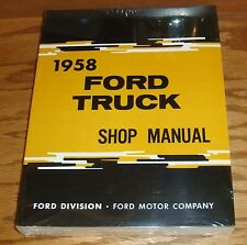 1958 Ford Truck Shop Service Manual 58 Pickup F100 F250