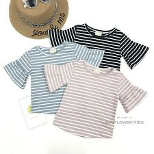 Sweety Toddler Newborn Baby Girls Striped Flare Sleeve Summer Tops Shirt Blouse
