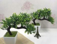 Bonsai Tree in Pot, Artificial Plant Decoration for Office and Home garden 23cm