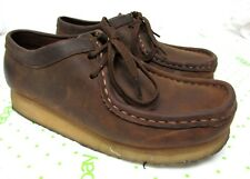 Clarks Originals 7 M women 38257 WALLABEE Brown Beeswax Leather Chukka Shoes