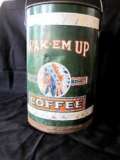 OLD WAK-EM UP COFFEE CAN TIN FROM ANDRESEN RYAN COFFEE DULUTH MN