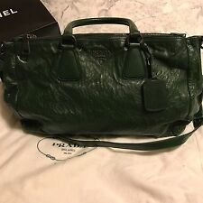 Authentic Prada Leather Tote Handbag