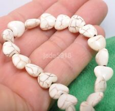 40pcs Turquoise Heart Bead white Jewelry Making Bead DIY  spacer bead 11mm