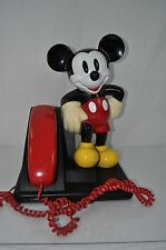 Vintage Disney MICKEY MOUSE PHONE 1990's  Line  Desk Telephone Working