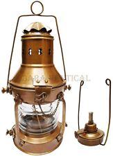 Antique Brass Oil Lamp Ship Lantern 13'' Nautical Maritime Ship Lantern