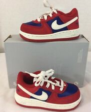 Nike Air Force 1 PRM Toddler Running Shoes Size 6C Red Blue