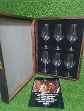 More details for 6x vtg. remy martin cognac glasses original wooden display box 1970's booklet