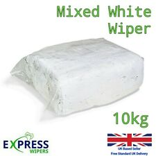 10kg Bag White Cotton Mix Cleaning Rags Wiping Wipers Garage Engineering Cloths