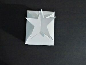 Die cut gift box with star party favours christmas flat x 6